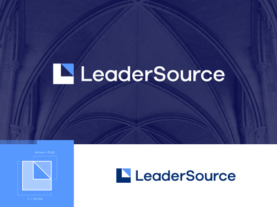 LeaderSource - Logo 4 church monogram leaders l fold movement arrow faith leader