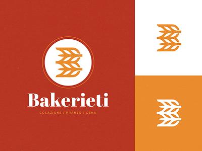Bakerieti - Logo Design branding identity logo italian italy monogram b baker bake wheat bread bakery
