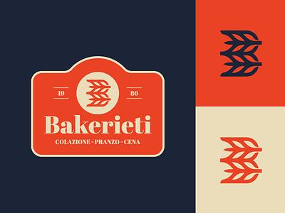 Bakeritie - Logo Proposal branding identity logo italian italy monogram b baker bake wheat bread bakery