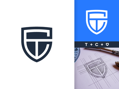 T, C and Shield Monogram