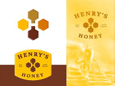 Henry's Honey - Logo Assignment label mentor assignment briefbox branding identity logo honey henry