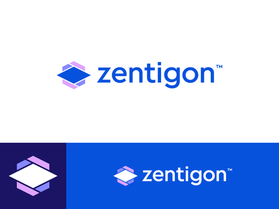 Zentigon - Logo Design abstract measurement hexagon gon zen logo identity branding monogram grid letter mark zentigon