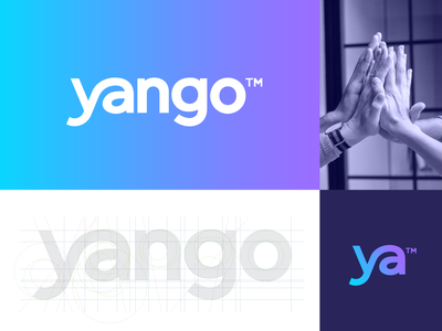 Yango - Logo Design help grow personal human life coach support letter abstract logo identity branding monogram wordmark lettering ligature connect balance go yango