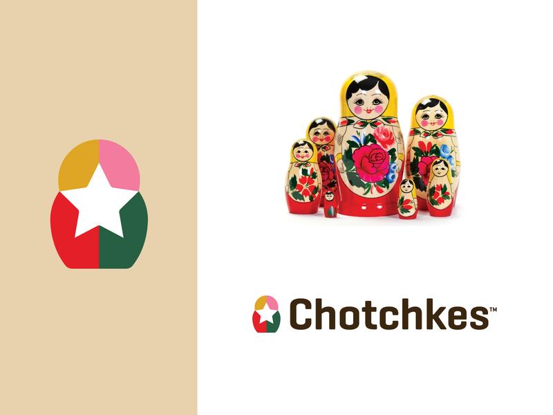Chotchkes - Logo Design logo design branding doll russian russia matryoshka monogram identity logo