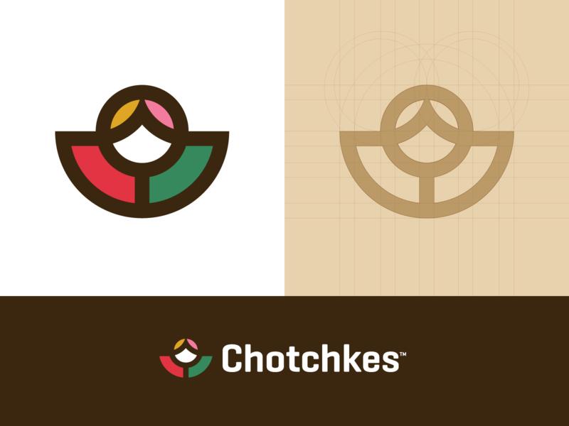 Chotchkes - Logo Design promotion product russia bag find line matryoshka doll russian chotchkes symbol grid lettering mark icon monogram identity logo