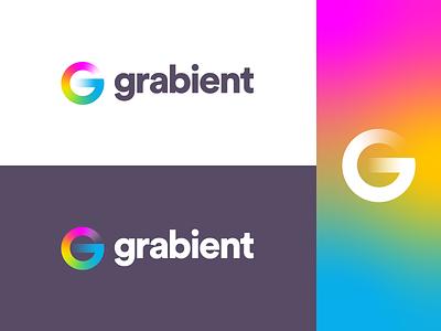 Grabient - Logo idea logo 3d rebound transparency letter g grid identity colors logo grabient