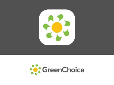 GreenChoice - Logo (re)Design Concept wind weather warm sustainable sun saving logo identity home nature green flower environment supplier power energy electricity netherlands dutch choice