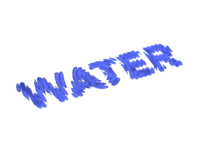 Water Wordmark - Brushed.