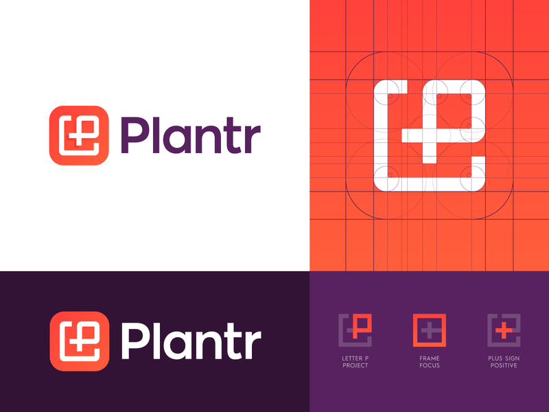 Plantr - Logo Concept 2 logo identity branding icon identity branding design identity design work tool track positive focus document cloud logo design logo frame management project career business grow plant