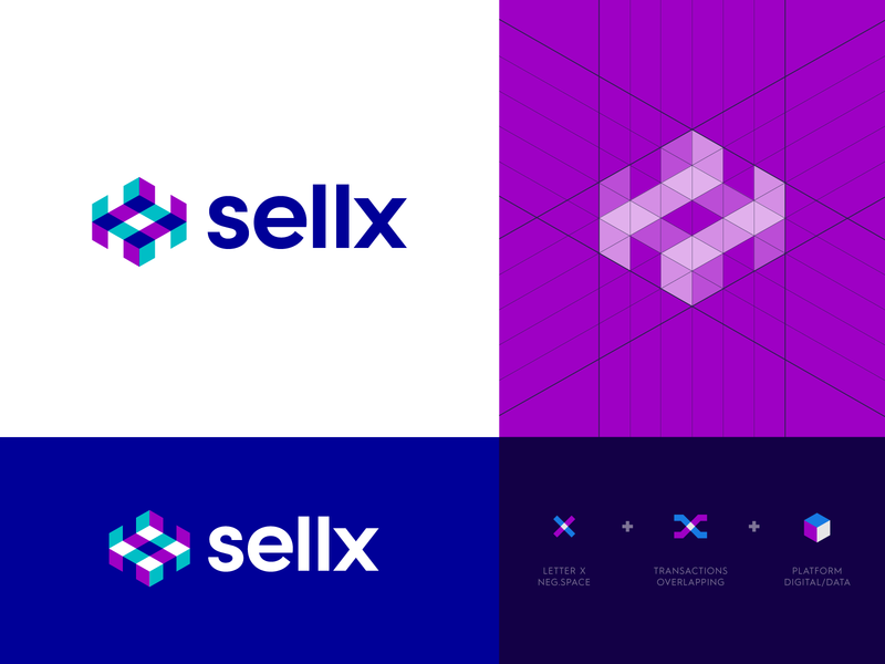 Sellx - Logo Design stock identity design arrow traffic leads lead platform buy selling abstract letter logo monogram elevate shift negative space logo design logo x sell check