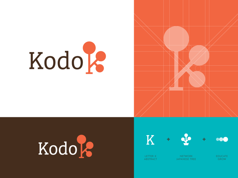 Kodo - Logo Design Unused kodo japanese tree buxus boxwood balance focus logo icon logomark branding visual identity logo design work enviroment behaviour activate platform discipline concept presentation