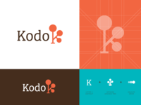 Kodo - Logo Design Unused kodo japanese tree buxus boxwood balance focus logo icon logomark branding visual identity logo design work enviroment behaviour activate platform discipline concept presentation