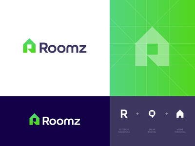 Roomz - Logo Design 🏡
