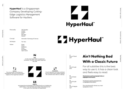 HyperHaul - Option 2 creative logo logo design hyperhaul software haul hyper letter lettering mark monogram branding identity logo