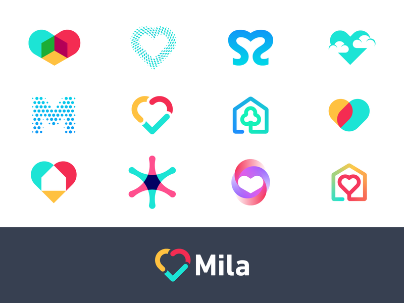 Mila - Logo Concepts mila air filter urban air pollution circulate purifier healthy health family love heart logo logo design branding logo redesign identity identity design custom lettering protection