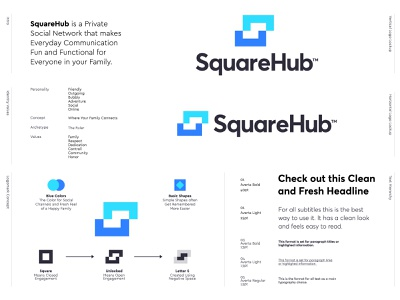 SquareHub - Logo Redesign Proposal logo design concept inner circle s monogram connect fun family communicate social network private logo designer archtype logo lockup visual identity brand identity logo design mark monogram branding identity logo