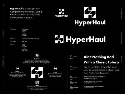 HyperHaul - Logo Design movement management software container arrows letter logo lettermark h monogram monogram branding identity design visual identity creative logo logo logo design hyperhaul haul hyper