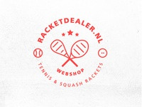 Dribbble designs red stamp