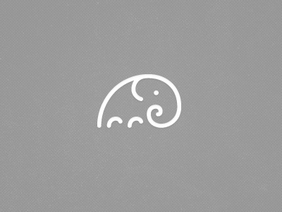Dribbble designs elephant icon