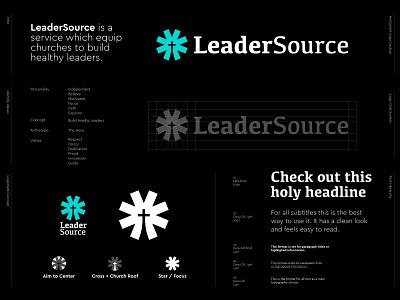 LeaderSource - Logo Design ⛪ followers god church lettermark symbol brand identity visual identity typogaphy styleguide identity monogram branding logo leadership holy faith source leader
