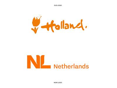 The Netherlands - Logo Redesign 🇳🇱🧡 monogram identity logo design branding nederland dutch design identity design branding visual identity dutch orange subtle design lettering logo wordmark lettermark lettering country logo logo design the netherlands holland