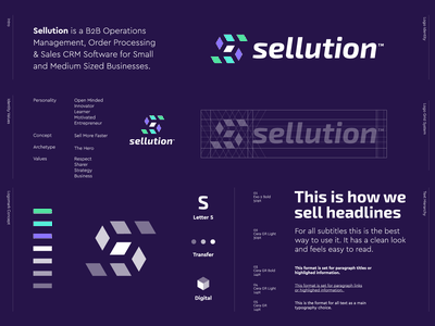 Sellution - Logo Design 📊 visual identity money digital cube logo design transfer s monogram s mark sollution sellution crm software crm ecommerce create process management manage b2b selling sell