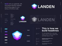 Landen - Logo Design 🏗️ jeroenvaneerden layer logo layers layer generate web development builder website landen landing symbol grid letter lettering icon mark monogram branding identity logo