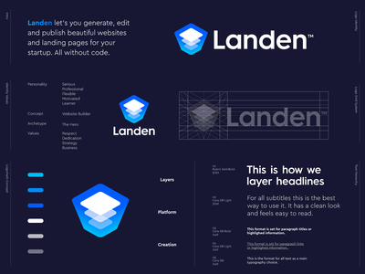 Landen - Refined Logo Design 🏗️