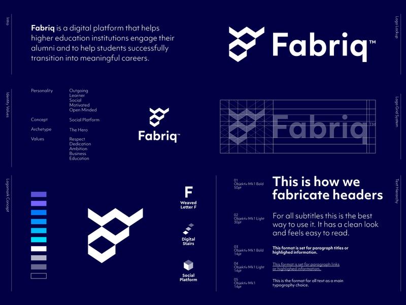 Fabriq - Approved Logo Design ✅ identity design branding f monogram f letter monogram monogram logo monogram letter logo lettermark lines weaved weave pattern fabriq fabric logo design logos logo negative space grow