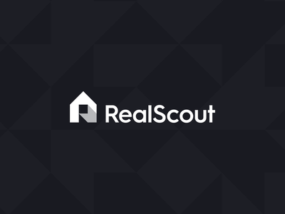 RealScout - Logo Animation platform scouting r house home monogram letter monogram wordmark california usa logo design logo branding realestate animation arrow real estate estate scout real