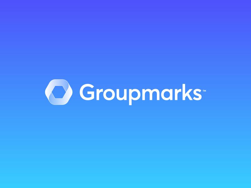 Groupmarks - Visual Identity 🔄 bookmark identity work manage managment team engagement engage record screen capture icon design branding brand logo design logo groupmarks marks mark group