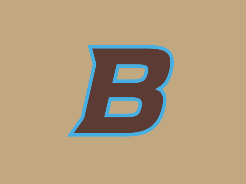 "The Bros ""B"" typography baseball illustration logo sports design branding"