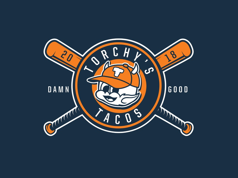 Torchy's Baseball apparel vector illustration baseball logo sports design branding
