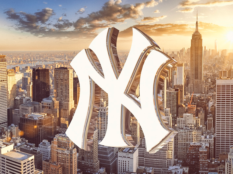 Bombers city c4d cinema4d mlb baseball logo manhattan bronx yankees new york