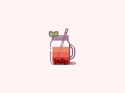 Bubble Tea yummies illustration icon food drink cup jar tea