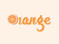 Lettering - Orange