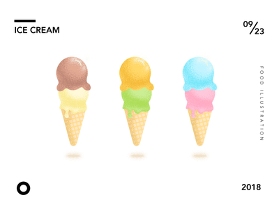 Ice Cream illustrator yummy color dessert illustration food ice cream
