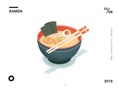 Ramen icon noodle ramen food illusrtation