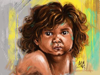 Expression! street kid sad kid sad boy poor boy eyes expression illustration design cute girl creative cartoon colours colourfull illustration cartoon character cartoon canvas art