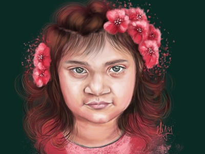 expression of eyes! pink girl expression painting portrait illustration design cute girl creative cartoon colours colourfull illustration cartoon cartoon character canvas art