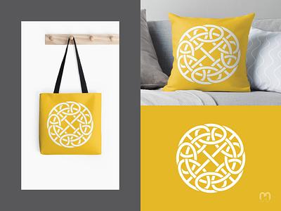 Celtic Logo Design on mockups intertwined logos vector branding traditional art logo design logotype pagan norse mithology knots knotwork celtic knot celtic