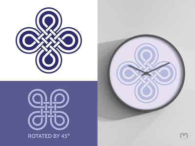 Celtic knotwork logo with a clock mockup mockup clock brand design branding norse mythology intertwined traditional art mithology irish logo design knotwork celtic knots celtic knot