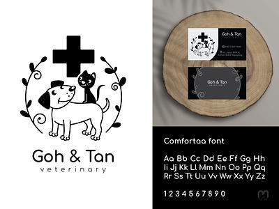 Goh & Tan veterinary Logo design veterinary clinic clinic logo logotype business card design dog logo cat logo pets petshop logo design concept animal art animal logo veterinarian veterinary vet