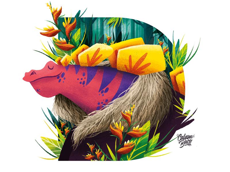 D - 36 Days Of Type characterdesign flower dinosaur calambuco 36days-d 36daysoftype
