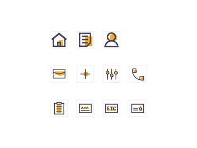 Icons for a Logistics App card task lists home logistics icon