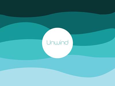 Unwind Branding Mockup relax advertising flat design graphic logo icon branding brand