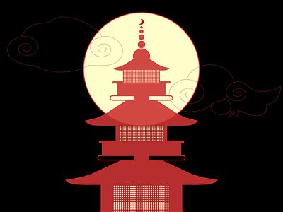 Tokyo Moon tokyo moon illustrator design illustration graphic flat