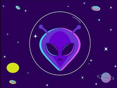 Cosmic Friend space illustrator icon illustration graphic flat design