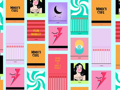 Groovy Matchbook Pattern trendy pattern illustrator illustration fun groovy graphic design