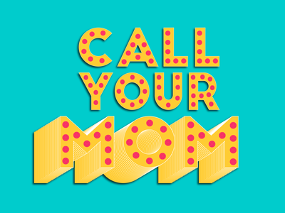 Call Your Mom type trends trendy bling jewels groovy love graphic design logo typography happy fun call mom vector icon graphic illustrator illustration design